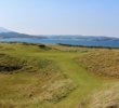 The par-3 third hole on the Sandy Hills Links at Rosapenna Hotel & Golf Resort introduces the views of Sheephaven Bay.