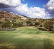 You don't see the green setting until you crest a hill in the fairway of the par-4 13th hole at Maderas Golf Club.