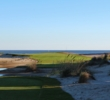 The par-3 18th hole serves as the climax on the Links golf course at Wild Dunes Resort in Isle of Palms, S.C.