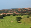The elevated third tee on the Zimbali Country Club golf course overlooks a scenic par 5.