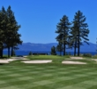 The 16th hole at Edgewood Tahoe Golf Course heads toward the lake.