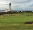 The par-3 ninth hole is one of the recently renovated holes on the Ailsa Course at Trump Turnberry Resort in Scotland.