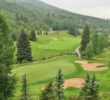 The view from the clubhouse reveals the beauty of Beaver Creek Golf Club in Avon, Colorado.