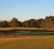 The first hole is a gentle opener at Gil Hanse's Mossy Oak Golf Club.