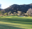 A rocky hillside frames the 10th hole on the Willow Glen Course at Sycuan Golf Resort in El Cajon, California.