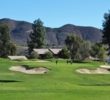 The bunkers surrounding the seventh hole at Pala Mesa Resort are big and deep.