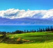 Everything moves down and left on the 663-yard par-5 finishing hole on the Plantation Course at Kapalua Resort on Maui.