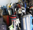 Does your garage look this? There are easy ways to get rid of unused golf clubs.