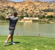Nick Zaferas of Australia tees off the par-4 10th hole at Angeles National Golf in Sunland, Calif.