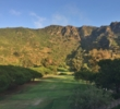 Shadows creep upon the first hole of the Ben Brown's Golf Course at the Ranch at Laguna Beach.