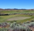 The first green on the Craddock course at The Retreat & Links at Silvies Valley Ranch.