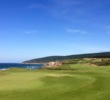 The 18th hole is a downhill par 5 that plays along the cliffs.