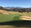 Looking back from the 12th green at the Rancho San Marcos Golf Course.