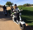 The TurfRider at Kierland Golf Club in Scottsdale, Ariz., represents the latest in ways to get around the golf course.