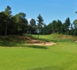 Bold bunkering, like these on the fourth hole, highlights the look of Red Tail Golf Club in Devens, Mass.