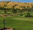 The hills come alive when you're standing on the clubhouse patio at Yocha Dehe Golf Club in Brooks, California.