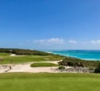 The wonderful view from the 17th tee at The Abaco Club can distract from the task at hand.