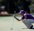 PJ Maybank III, participant in the boys 12-13, competes during the Drive, Chip and Putt Championship at Augusta National Golf Club.