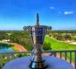 The U.S. Amateur Four-Ball trophy overlooking Jupiter Hills Club.