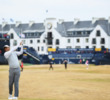Tiger Woods during a practice round for The Open at Carnoustie Golf Links.