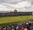 Grandstands, ubiquitous in championship golf (seen here at the Open Championship at Royal Troon in 2016), help narrow players' focus at critical points in the round.
