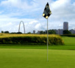 Gateway National is just five miles from downtown St. Louis, which makes for a pretty nice backdrop to the course.