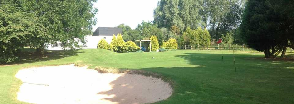 The chipping green at Brandon Wood