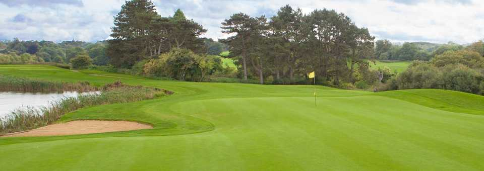 Well kept greens at Surrey National Golf Club