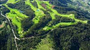 Santo da Serra GC: Aerial view