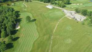 Links at Bowen Lake: aerial view