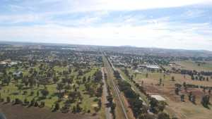 Henty GC: Aerial view