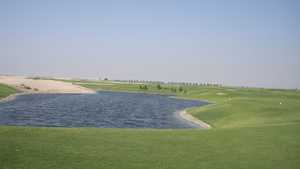 9 Hole Course at Kuwait International Golf and Country Club - 5th Hole Water Hazard