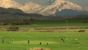 The 3rd green at Criccieth