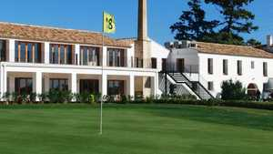 Foressos GC: #18 & clubhouse