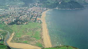Real GC de Zarauz: Aerial view