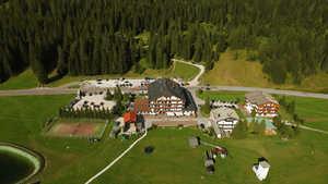 Passo Monte Croce Comelico GC: Aerial view