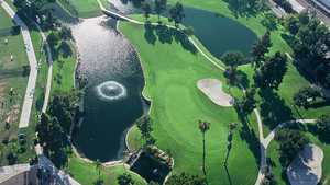 Cerritos Iron-Wood Nine GC: Aerial view