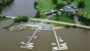 Chester River Yacht & CC: Aerial view