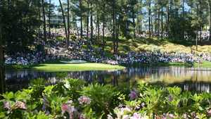 Augusta National Par-3: Golf fans during the Par-3 Contest