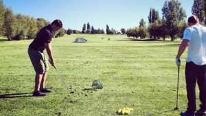 Teton Lakes GC: Practice area