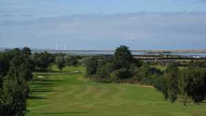 18th fairway at Caernarfon Golf Club