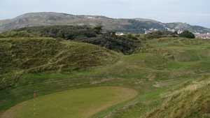 16th and 17th greens at North Wales Golf Club