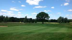The 18th green at Merrist Wood