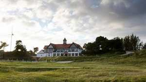 The clubhouse at Hesketh GC