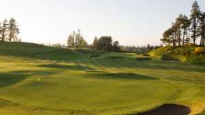 15th and 16th greens on the King's Course at Gleneagles