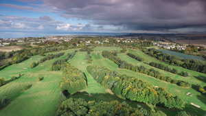 Aerial view from Musselburgh GC