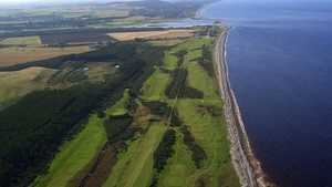 Spey Bay GC: Aerial view
