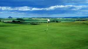 3rd green at Gullane 2 Golf Club