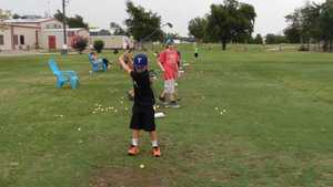 Hartlines Golf Center & Driving Range: Practice area