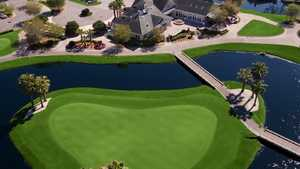 Eagle Harbor GC: clubhouse (aerial)